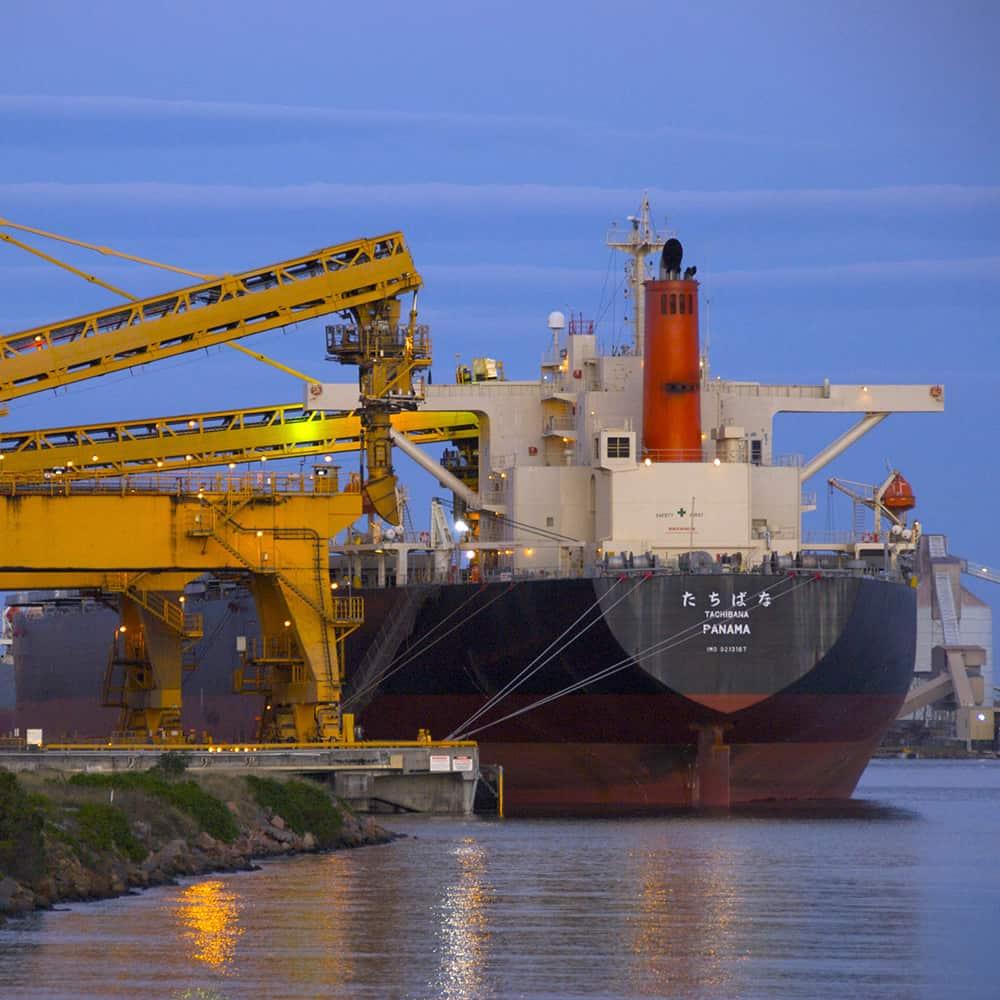 Coal ship loader